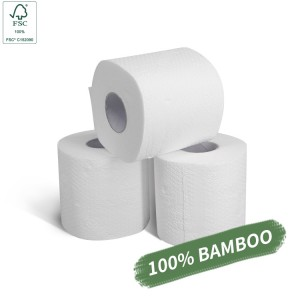 FSC Private Label Best Biodegradable 3ply Bamboo Toilet Paper