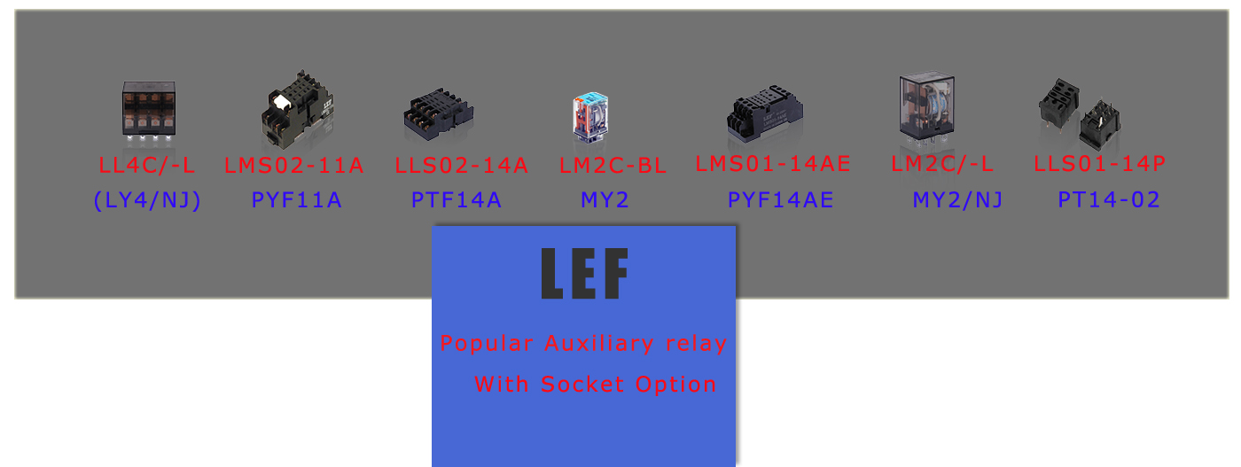 LEF RELAY WITH SOCKET