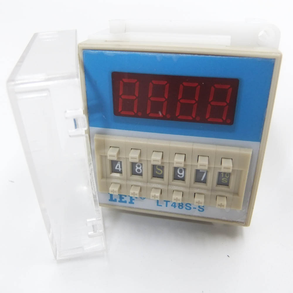 durable lifespan LEF LT48S-1Z  twin timer relay ,time controller digital display switch Featured Image