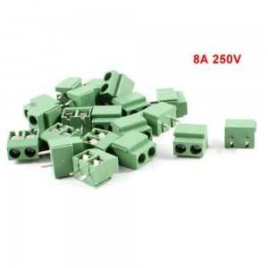 LEF 2 Pole 5mm Pitch PCB Mount Screw TermInal Block Connector 8A 250V