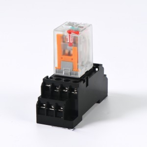 RMY4-BL 2PDT relay 2 pole with push button + LED indicate power relay MY2NJ MY2 base
