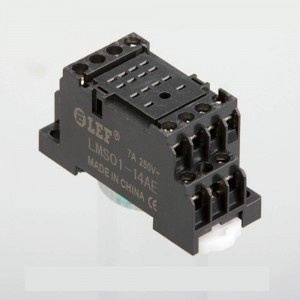 High power and current DIN Rail Mount 14 Terminals Relay base for MY4 HH54P JZC-18F with 10 amps