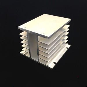 heat sink for three phrase ssr 10-120A radiator 110x100x80mm
