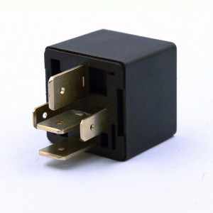 RCR-1 40A car relay for headlight auto relay SPDT 12VDC with wires base socket