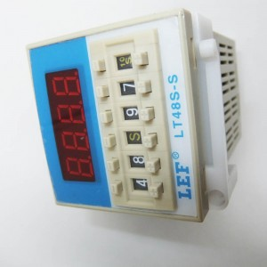 durable lifespan LEF LT48S-1Z  twin timer relay ,time controller digital display switch