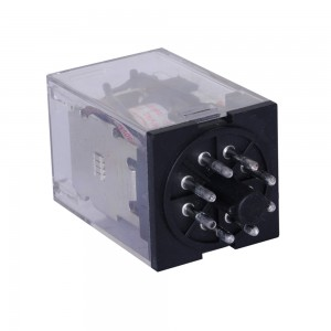 LEF DC Coil Brand New General Purpose Relay 12V MK2P 8Pin 2NO 2NC With Led Light 35*35*53mm