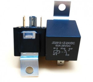 RCR-2 60A car relay 24VDC iron bracket automobile relay with wires socket