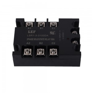 three phase 10~100A 40-440VAC Solid State Relay