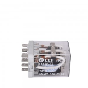 LEF Power Relay 3PDT 40A 11 Pins-Coil 28VDC LR38F-3Z