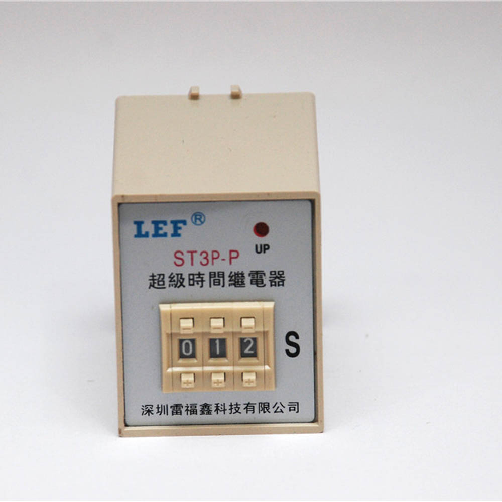 Competitive price LEF LT3P-P3 3A 220V 99sec 0-999 time setting range power on delay Featured Image