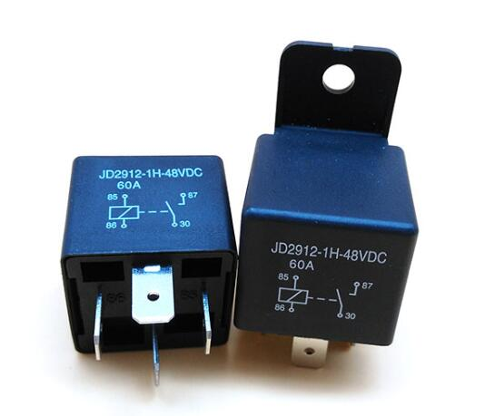 RCR-2 60A car relay SPST 12VDC nylon bracket automobile relay with wires socket Featured Image