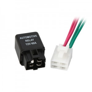 12V 30A Air Conditioning Relay Four-pin Normally Open Fan Air Conditioning Special Car Relay with Wire Socket SPST