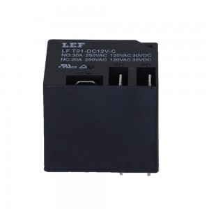 Low Power T91 RELAYS 1C DC3V 5V 9V 12V 24V 30A PCB RELAYS